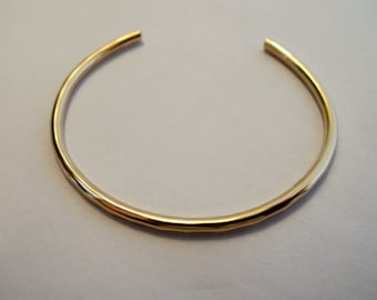 handmade 14k gold fill adjustable bracelet cuff