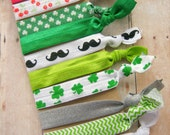 Elastic Hair Ties - St. Patricks Day- LIMITED EDITION - FOE
