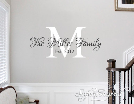 Personalized Picture Frame With Family Name Quote Family: Family Name Wall Decal Personalized Family By SurfaceInspired