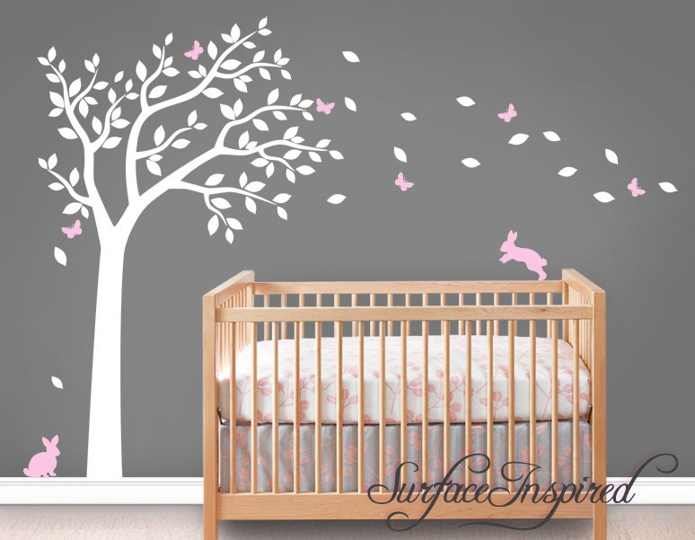 Wall Decal Nursery Wall Decals Tree Decal With Adorable - Wall decals in nursery