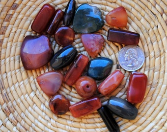 African Carnelian/Agate Assortment: