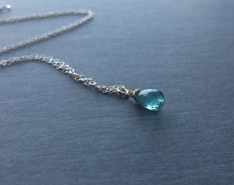 Apatite necklace set etsy blue apatite pendant necklace jewelry set gold or silver or rose gold mozeypictures Images