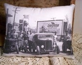 Antique Vintage Retro 1950's style Retro Automobile 1950s CAR Hot Rat Rod Model A Ford 32 Gas Station Small Pillow Tuck FREE 1st Class SHIP