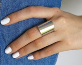 tube ring, silver ring, wide band, wide band ring, wide silver band, silver cuff ring, silver wide ring, silver band ring, band ring