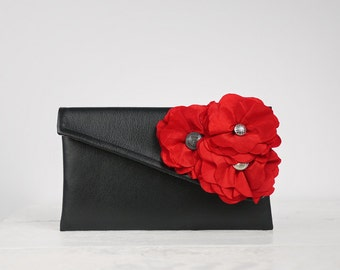 Red Bridesmaid Clutch, Red Wedding Party Clutch or any other color