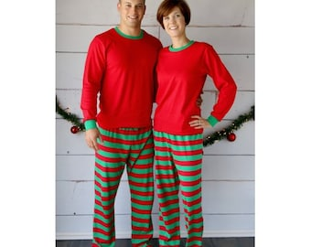 Adult Christmas Pajamas with Monogram