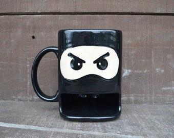 Ninja Warrior Dunk Mug - Ceramic Cookie and Milk Mug - Ready to Ship