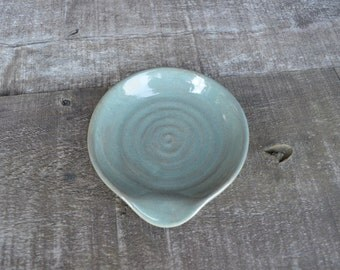 Earth Tone Ceramic Spoon Rest - Hand Thrown Style - Forest Glen