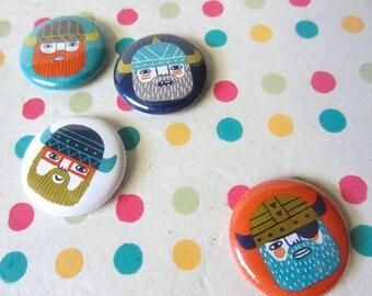 Nerdkings, Vikings, Pins or Magnets, eye patch, pirates