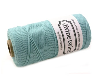 SOLID Bakers Twine 240 yard spool - TEAL GREEN twine - string for crafting, gift wrapping, packaging, invitations