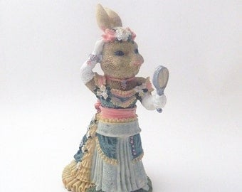 The Victorian Collection - Catherine Cottontail -1994 - Resin Bunny Rabbit