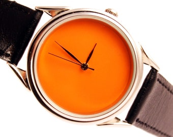 Orange watch - ascetic watch - unisex watches