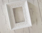 White Photo Frame Ornate Gallery Frame Wedding Decor Photo Prop