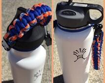 Paracord handle for hydro flask bottle go broncos basic cobra knot
