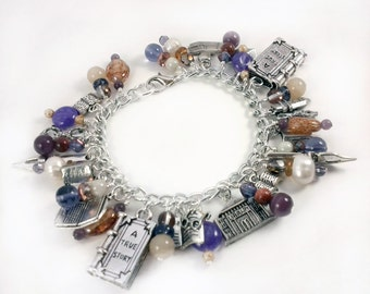 I Love the Library Charm Bracelet