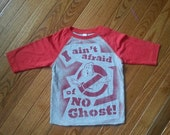 SALE Ready 2 Ship 80s kids tshirt Ghostbusters 3/4 sleeve youth and toddler sizesbaseball tee