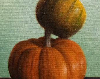 Pumpkin and Gourd Oil Painting by Jonathan Aller