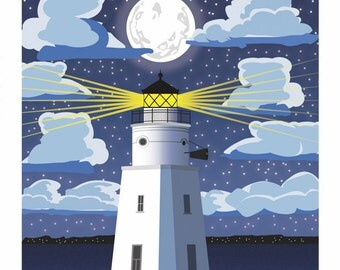 Lake Superior Shore Towns Series: Art Deco Ashland, WI Travel Prints - Free Shipping