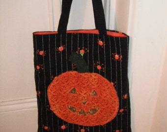 Halloween Tote Bag / Trick or Treat Tote Bag / Holiday