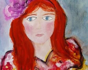 Madeleine- 11x15- Original Abstract Girl