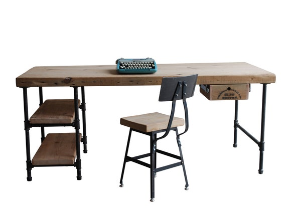 Modern Wood Desk. reclaimed wood with steel legs in your choice of ...