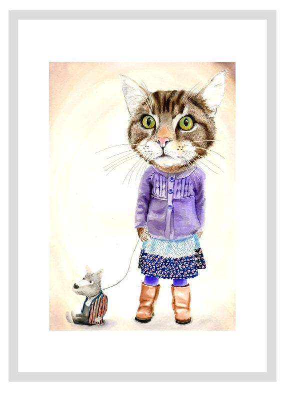 Miss Pickles print - A3 print