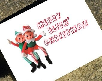Merry Elfin Christmas - Funny Christmas Card