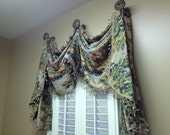 Window Treatment Made to Order Using Your Purchased Fabrics-Single Window Valance -Traditional Window Treatment-Home Decor Seamstress