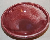 Cat Food Bowl - Matches fountains done in Cranberry  - REDUCED