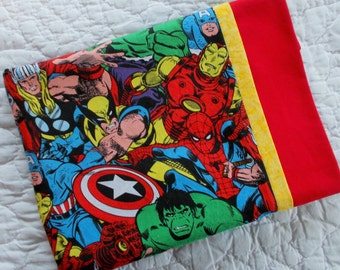 Super Hero Childrens or Travel  Pillow Case