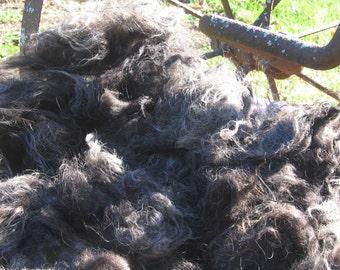 Raw Wool Fleece - Starry Night Black