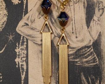 Art Deco Jewelry - Art Deco Earrings - 1920s Jewelry - Miss Fisher - Downton Abbey Style Jewelry - Bridesmaid Earrings - Womens Jewelry