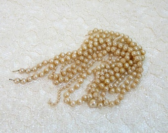 Vintage Faux Pearl Strands For Crafts