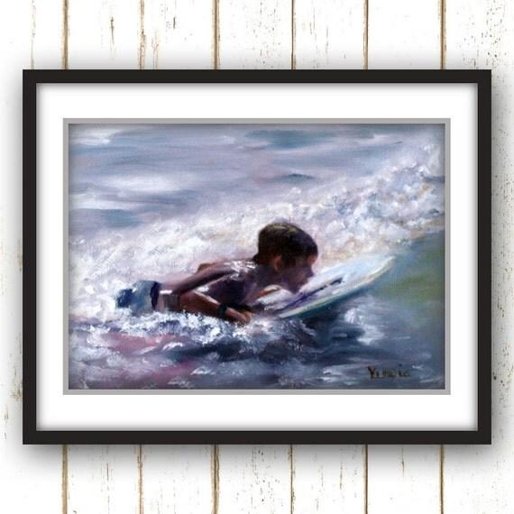 Painting Print - Beach Painting Print - Coastal Painting Print - Nautical Painting Print