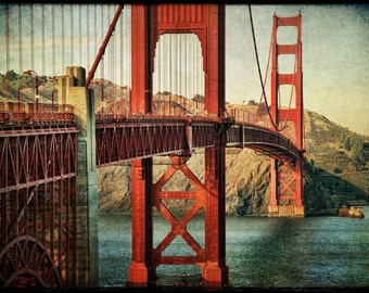 Golden Gate Bridge photo : san francisco photography bay area northern california historic red orange home decor 11x14 16x20 16x24 20x30