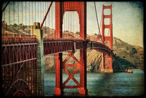 Golden Gate Bridge photo : san francisco photography bay area northern california historic red orange home decor 11x14 16x20 16x24 20x30