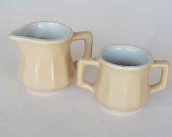 Hall Miniature Sugar and Creamer
