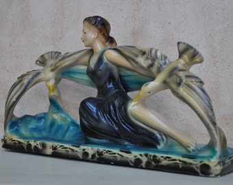 Vintage French Sculpture Plaster or Chalkware