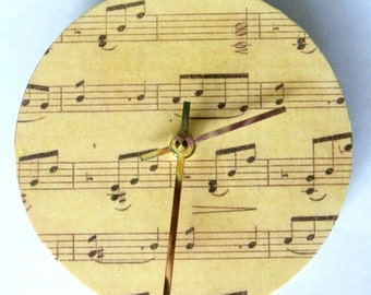 Music clock.  Wall clock for a music lover.