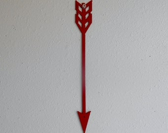 Arrow / Red / Metal Art / Wall Hanging / Home Decor / Native american / indian / wall decor / archery / arrowhead