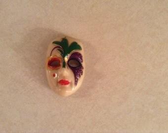 Vintage Miniature Harlequin Mask