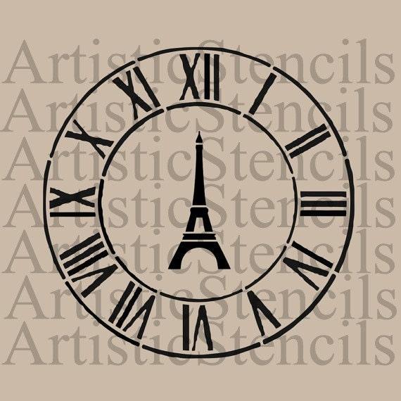Parisian Clock Stencil from ArtisticStencils