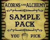 Sample Pack of Artisan Oil Hand Blended by Acorns and Alchemy - You Pick The Scent-Glass Sample Vials, Apothecary, Sampler, Perfume, Cologne