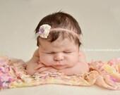 Monet's Pink Garden Ruffle Stretch Fabric Wrap Newborn Photography Prop Posing Swaddle