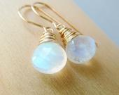 Moonstone drop earrings. Dangle earrings. Gift for her. Birthstone earrings. June birthstone. Moonstone earrings. Frosty winter jewelry