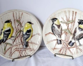 Hand Crafted 3 Dimensional Decorative Plates Ceramic Baltimore Orioles Birds Hanging Plates Home Decor Wall Art 3D Collector Plates