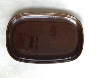 Brown Russel Wright Steubenville Ceramic Platter
