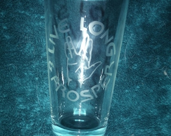 Star Trek Live Long and Prosper Glass