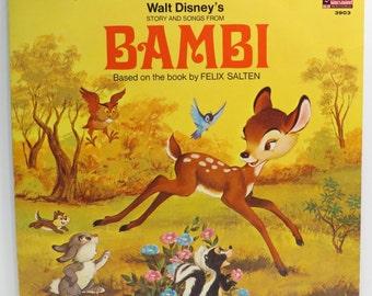 Bambi Album Cover Purse Custom Made Vintage Walt Disney LP Record Album Handbag Tote