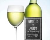 Custom Anniversary or Wedding Wine Label (Waterproof)